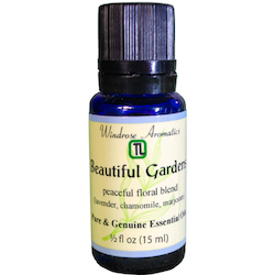 Beautiful Gardens (a blend of pure florals with Lavender, Chamomile, Marjoram) Essential Oil Blend